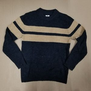 H&M Black Tan Crew Neck Sweater Men's US Size S